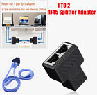 1 to 2 Ways Dual Female RJ45 Splitter Adapter LAN Ethernet Cable Connector