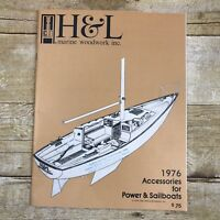Vintage Sales Brochure Catalog Sailboat Accessories H& L Marine 1976 Boating Ad