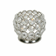 7cm Nickel Crystal Tea Light Holder. Excellent Wedding Table Decoration!
