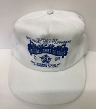 90's Fraternal Order Of police Golf Hat Trucker Hat Snapback Steubevill, Ohio Y1