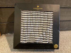 NIB Clementine Kids Reversible Quilt Double Striped Black/White Patterns (2393)