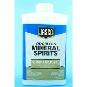 Jasco Odorless Mineral Spirits • Cleans Up/Thins Paint, Stain, Varnish, Brushes