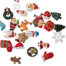Christmas Tree Shoes Snowman Gift Dessert Cartoon Resin Flatback Cabochon 10Pcs