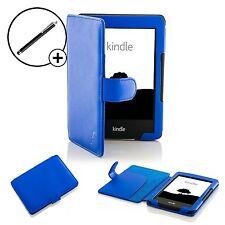 De Cuero Azul Smart Funda Protectora Para Amazon Kindle (7th Gen 2014) + Stylus