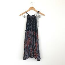 Intimatley By Free People Boho Floral Printed Babydoll Tunic Dress Size Xs