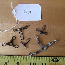 Vintage Antique fishing lure swivels for fishing lures (lot#9751)