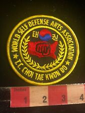 Tc Choi Tae Kwon Do World Self Defense Association Martial Arts Patch 01Rn
