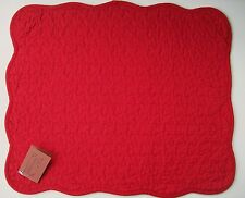 Great Finds SCARLET Red Quilted Cotton Placemats Set of 2