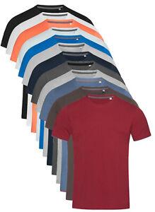 Mens Short Sleeve Plain Slim Fitted Body Fit Cotton Elastane Tee T-Shirt Tshirt