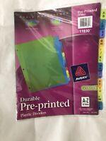 Avery Preprinted Plastic Divider - 12 x Tab PrintedA-Z Tab-s-/Set