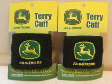 2 Pcs. John Deere Tractor Logo Terry Cloth Cuff Wrist Bands New On Card