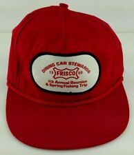 Frisco Railroad Dining Car Stewards Fishing Trip 1989 Red Adjustable Cap Hat