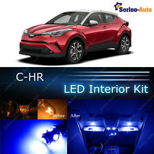 10x Ultra Blue LED Lights Interior Package Kit for 2018 Toyota C-HR