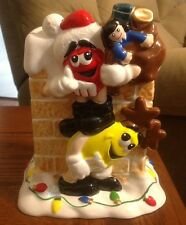 M&M's Christmas FTD Chimney Vase/Planter Red & Yellow Characters