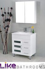 CLEARANCE SALE @ 750mm Glass Door Bathroom Vanity Cabinet Only