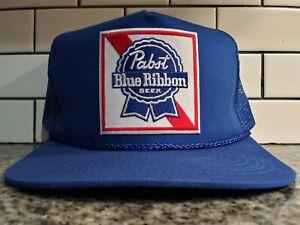 Pabst Blue Ribbon PBR Trucker Hat Vintage Style