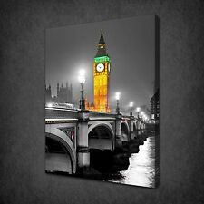 BIG BEN LONDON AT NIGHT CANVAS WALL ART PRINT PICTURE READY TO HANG