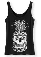 Skull Pineapple Ladies Tank Top Womens Vest S-2XL SP4