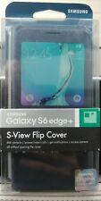 Samsung Galaxy S6 EDGE + S-View Flip Cover Case G928- Black Sapphire - Brand New