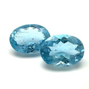 4.06tcw Greenish Blue Aquamarine, Ovals, Brazil, Natural Gemstone *Video*