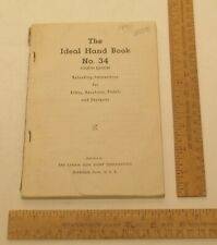 The IDEAL HAND BOOK No. 34 - Fourth Edition - Lyman Gun Reloading - Damaged