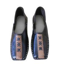 Mojari Ethnic Leather Men Shoes Indian Flip-Flops Flat Boat Shoes UK 7.5 EU 41