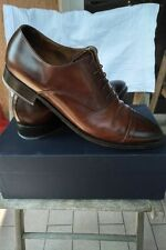 CAMPANILE LEATHER BROWN SANTONI STYLE SHOES! 100% PELLE MADE IN ITALY WITH BOX!