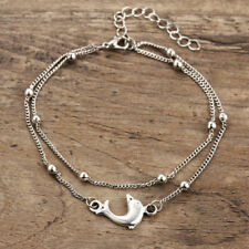 Stainless Steel Anklets Cute Dolphin Charm Ankle Bracelet