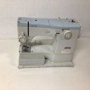 Vintage Elna Supermatic Sewing machine circa 1960s in metal case #327