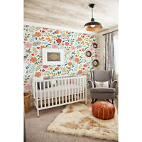 Non-Woven wallpaper traditional Folk Vintage Floral Colorful Kids Baby pattern