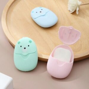 SOAP BOX DISPOSABLE FOAMING SCENTED BATH WASHING HANDS WITH SLICE SOAP PORTABLE