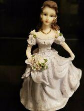 Quinceanera Cake Topper Figure Violet Dress