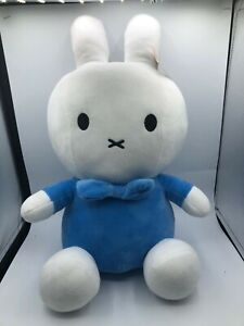 Official Large Mercis Blue Miffy Plush Kids Soft Stuffed Toy Animal Bunny Rabbit