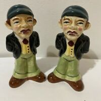 Vintage Enesco Imports Japan Dapper Man Figural Salt and Pepper Shakers
