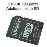 100 Kingston ADATTATORE TF MICROSD SDHC a SD CARD Adapter MEMORIA reader lettore