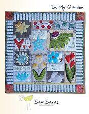 In My Garden Applique Quilt Book by Sam Sarah Design Studio ~ Flowers, Hearts