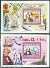 CHAD 2014  JAMES COOK & JAMES CLARK ROSS   SOUVENIR SHEETS MINT NEVER HINGED