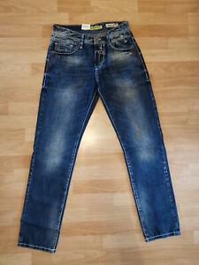Cipo & Baxx Jeans Herren Dicke Nähte Hose Herbst Freizeithose Mens Pants W30/L32