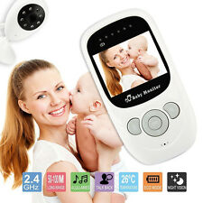 Baby Monitor Audio Video Night Vision Camera 2.4GHz Wireless Digital LCD Color