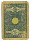 """Single Vintage Old Wide Railroad Playing Card """"Illinois Traction RR"""" ITS 3b Blu"""