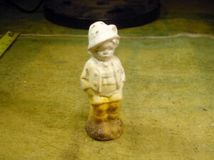 excavated vintage rust stained baverian Boy Dollhouse Miniature age 1890 A 13827