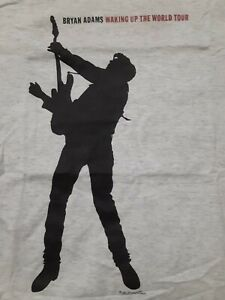 Bryan Adams T-Shirt L 1991 Waking Up The World Tour