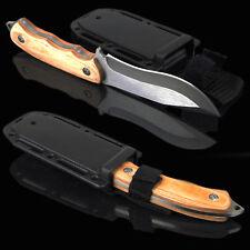 Jagdmesser Reisemesser FULL TANG WOOD ABS -Survival Knife 8CR13MOV Aus-8 ND235