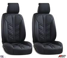 Deluxe Black PU Leather Front Seat Covers Padded For Mazda 2 3 6 CX-3 CX-5