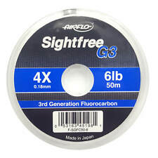 Airflo Sightfree G3 Fluorocarbon Tippet Fly Fishing Tippets 6lb