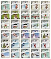 Snowman Duvet Cover Set Twin Queen King Sizes with Pillow Shams Ambesonne