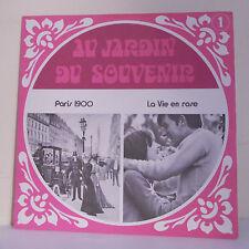 33T JARDIN SOUVENIR Vinyl LP PARIS 1900 LEGRAND DUBOIS MONTERO Maurice CHEVALIER