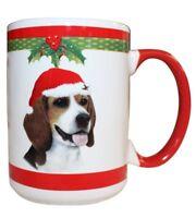 Beagle Christmas Coffee Mug 15 oz E&S Pets Dog Puppy Tea Cup Holiday Stocking