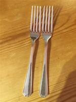2 X Vintage Insignia Silver Plated EPNS Grecian Pattern Table Forks 20cm A1