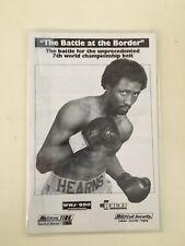 Thomas Hearns Lenny Lapaglia Rare Boxing Program Detroit 3/31/95
